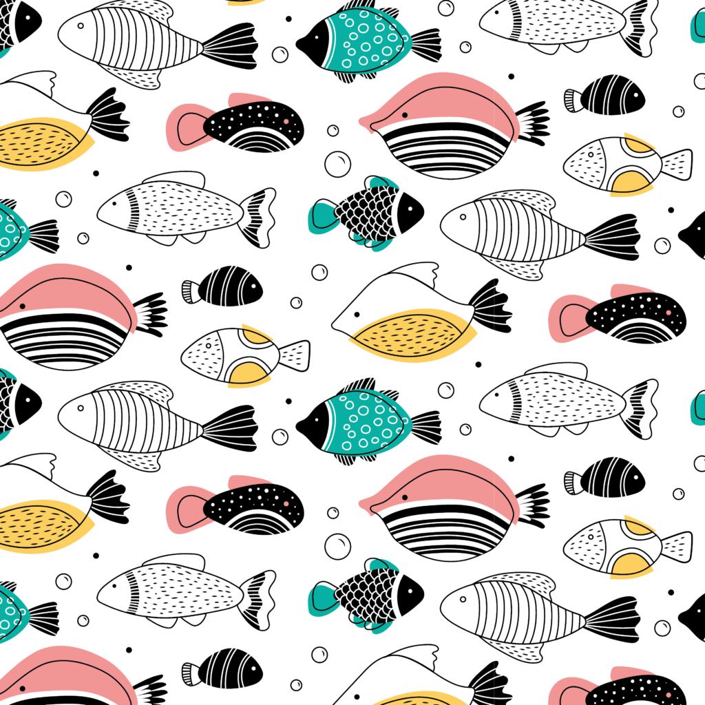 Illustratie vissen patroon