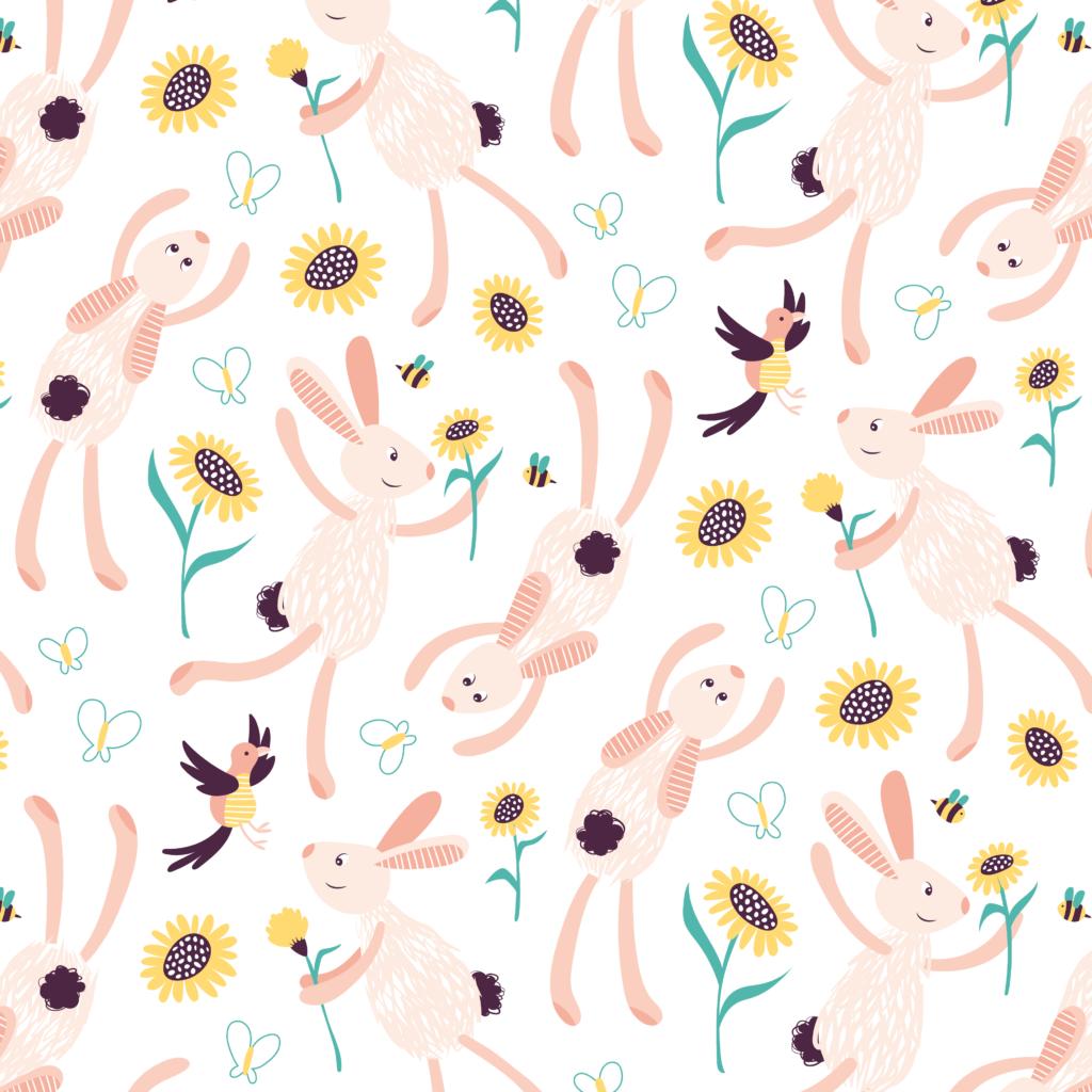 lente patroon konijnen