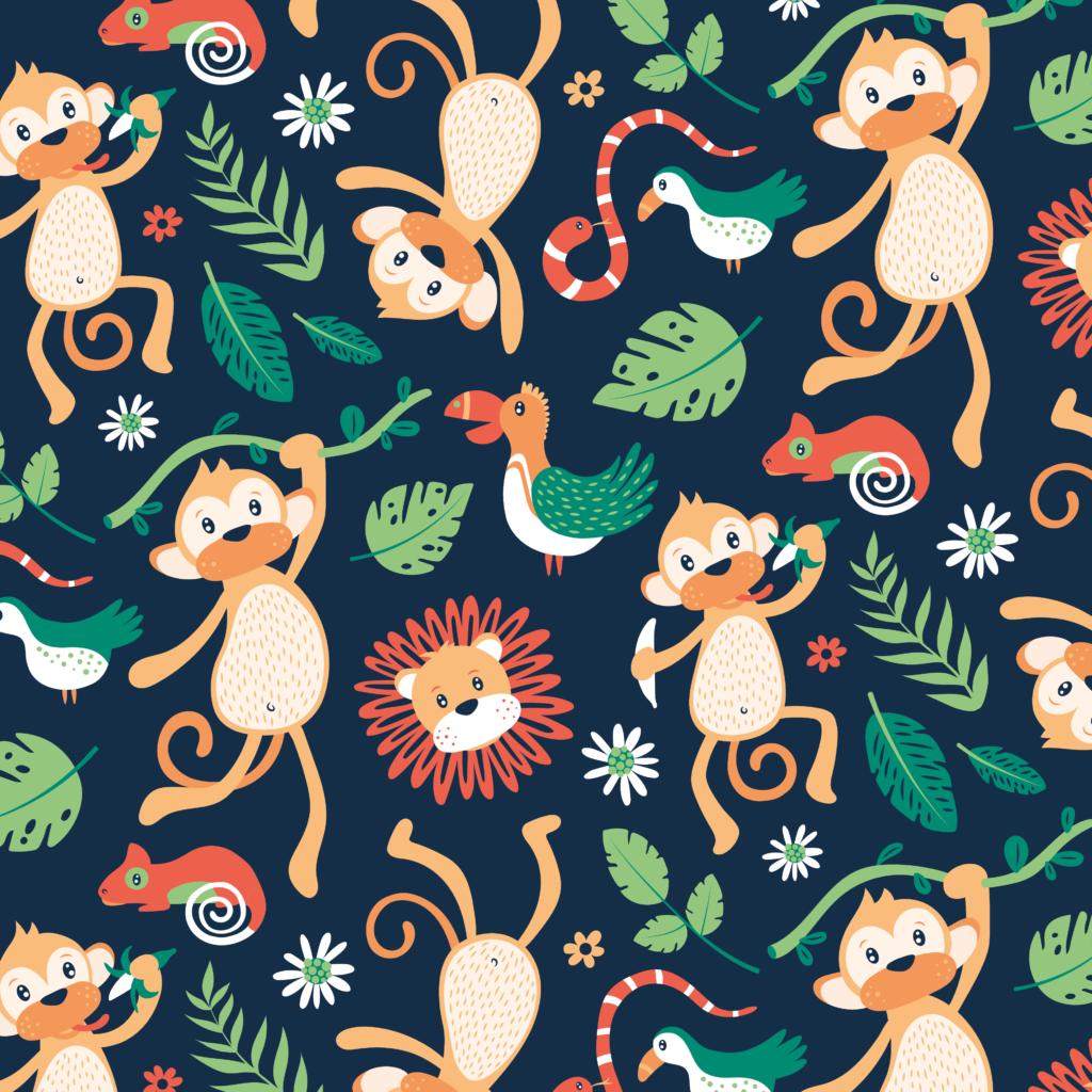 Jungle patroon voor stof