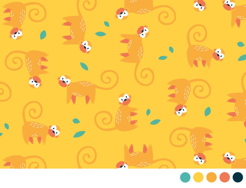 Leuk stof patroon voor kinderen