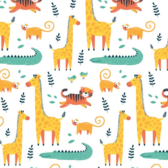 Illustratief patroon dieren