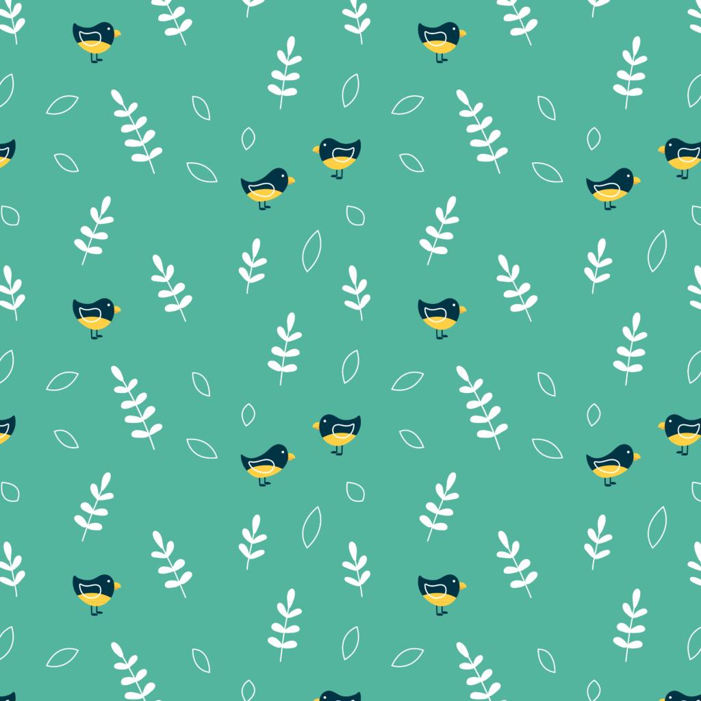 Patroon met vogeltjes