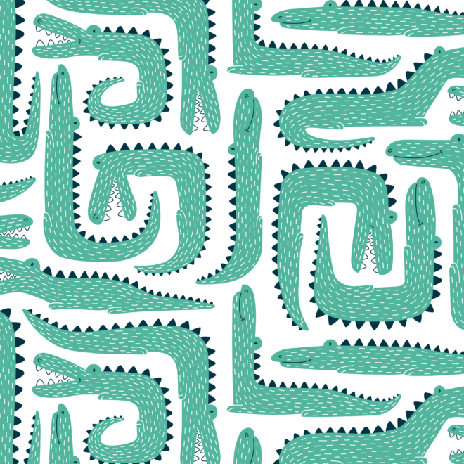Patroon ontwerp krokodillen