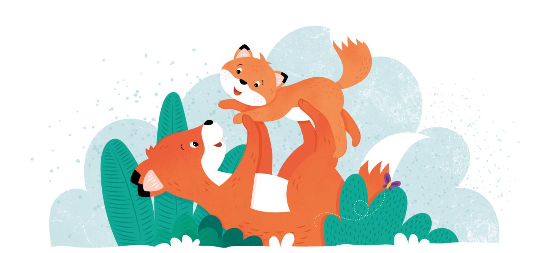 Illustratie uit kinderboek 'Ik lief jou! De wereld rond'